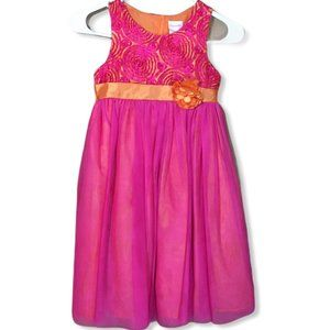Nannette Girl Dress Pink and Orage  size 6x